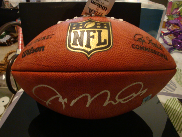 Signed Joe Montana Football 49rs